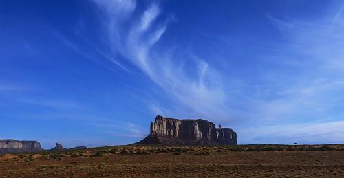 blue arizona brown white mountain green clouds utah desert monumentvalley beautifulview cirrus geologicalformation jimhankey afsnikkor18200mmdxvr nikond7100