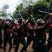 Hommage aux  compañeros Villoro Galeano, caracol de Oventik, Chiapas, Mexique le 2 mais 2015