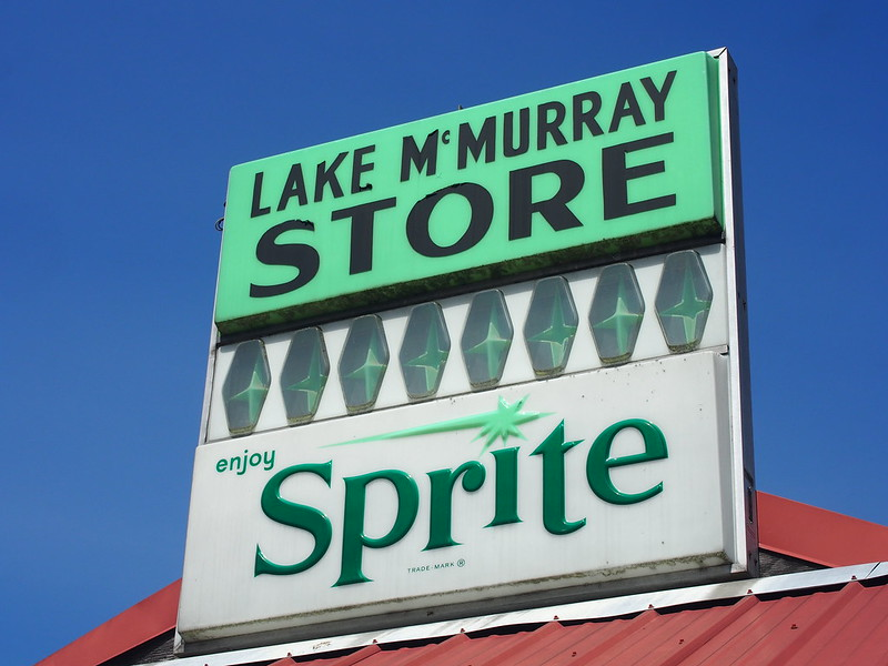 Lake McMurray Store Sign