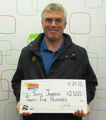 R. Scott Johnson from Boise, ID - $2,500 Mega Millions