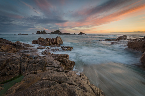 sunset lighthouse water clouds islands nikon rocks long exposure sigma wave lee jersey 1020mm filters channel graduated density neutral corbiere toprint d7000