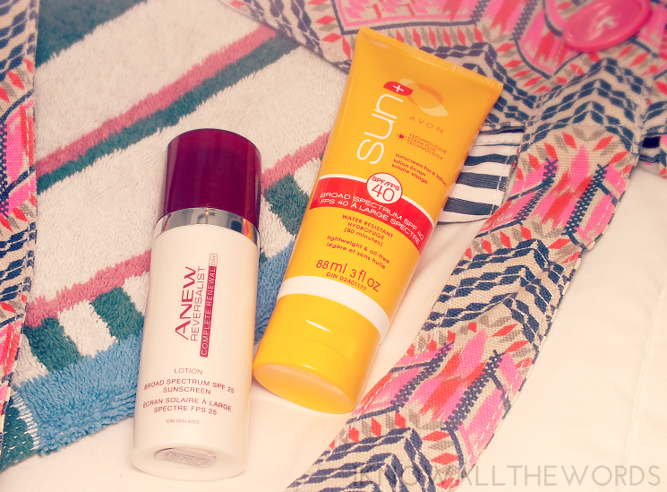 avon anew reversalist complete renewal day lotion and avon sun sunscreen face lotion