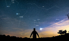 Astrophotography Panorama Test Shot (with labels!) - Photo of Aillant-sur-Tholon