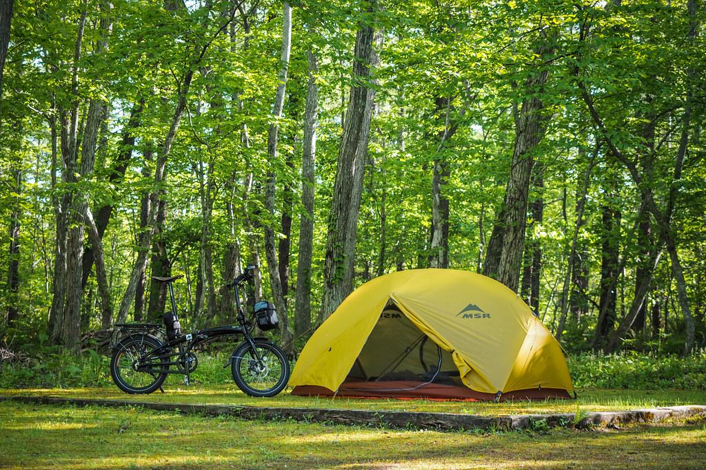 Camping and BBQ in Aoba Park, Chitose City, Hokkaido, Japan