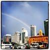 Rainbow in the city #Auckland #rainbow #sunshineandshowers