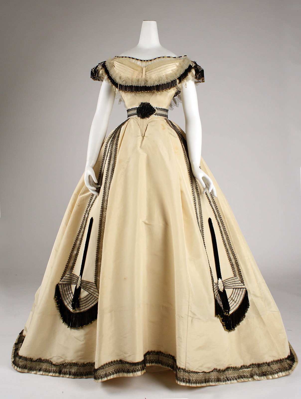 1864 French, silk. metmuseum