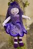 Purple crochet doll