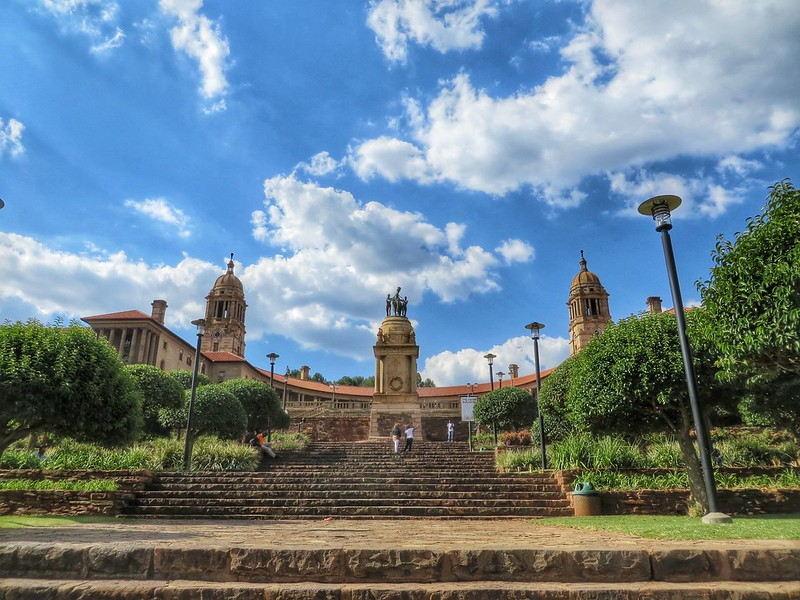 The Union Buildings steps, Pretoria