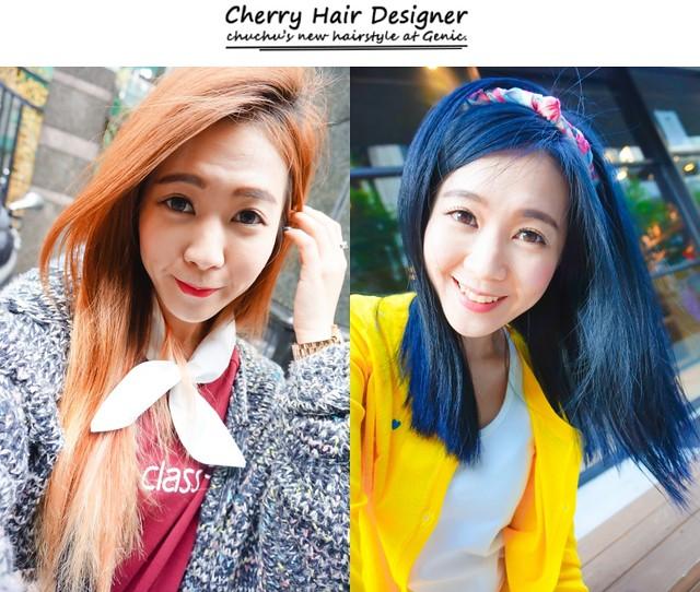 變回高中生!剪短+灰藍色染髮過程紀錄–Genic Salon