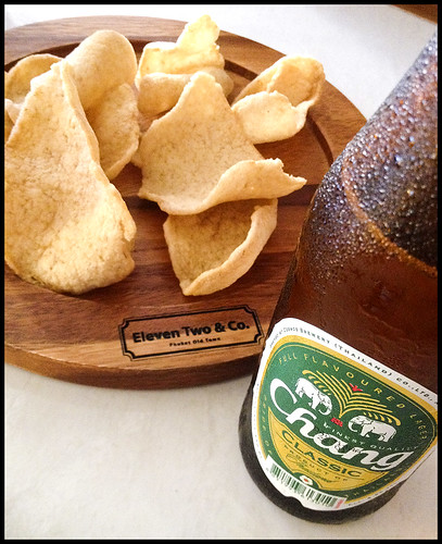 Chang Beer with free Prawn Crackers