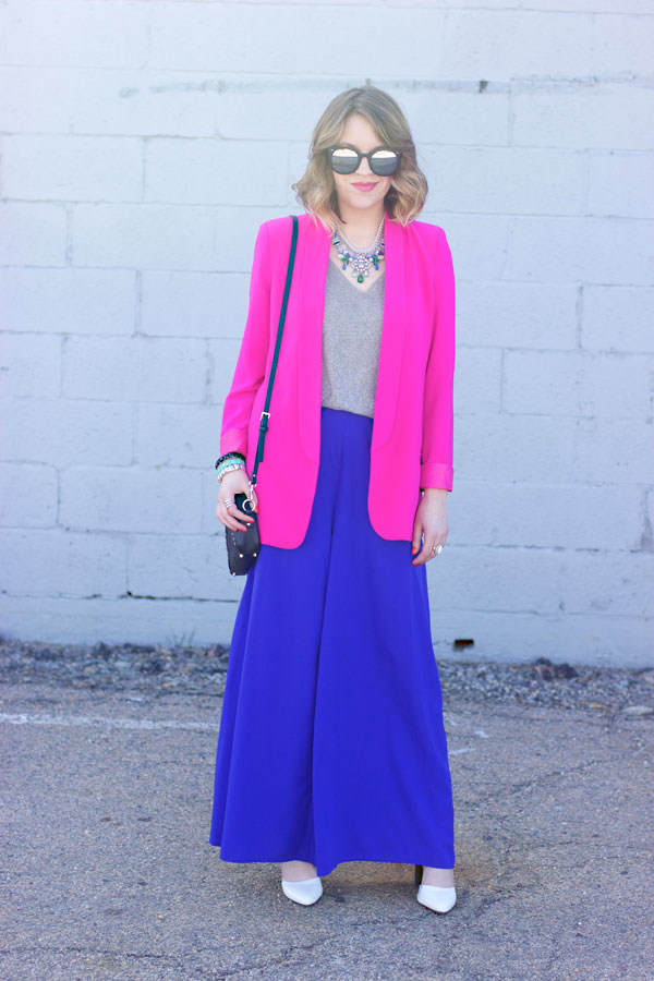 Blazer and wide leg pants