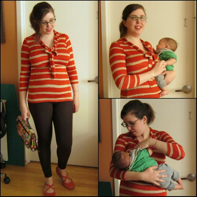Baby only took catnaps today but somehow I finished my #jalie scarf top hacked for #SHBsewalong as a #nursingtop ...