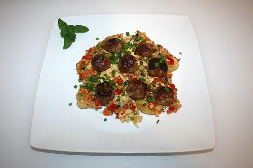 53 - Potato bratwurst casserole - Served / Kartoffel-Bratwurst-Auflauf - Serviert