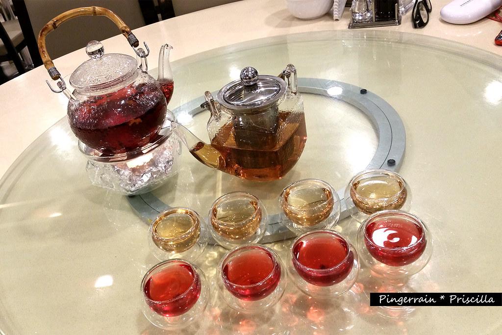Chinese Tea and Ribena Tea