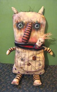 Monster art doll , sandy mastroni