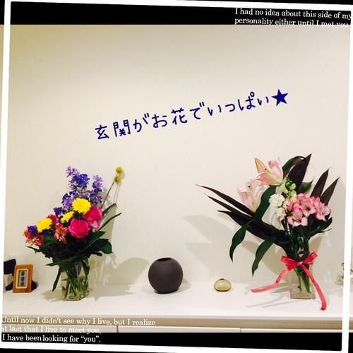 玄関のお花たち