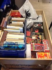 Bøker fra magasin, mange uregistrerte titler
