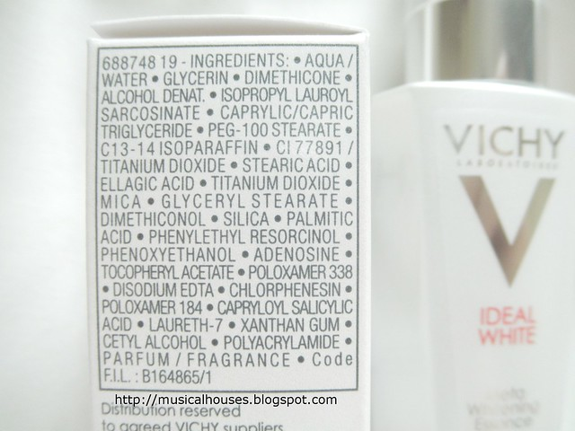 Vichy Ideal White Essence Ingredients