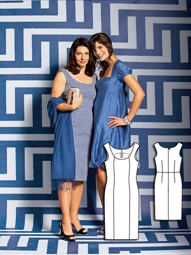 Women's sheath dress sewing pattern 109 052010