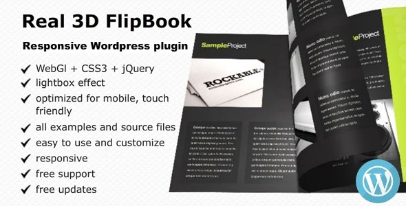Real 3D FlipBook v2.35 – WordPress Plugin