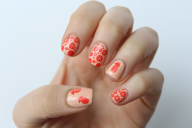 Pineapple Nail Art | Nail Stamping | #LivingAfterMidnite