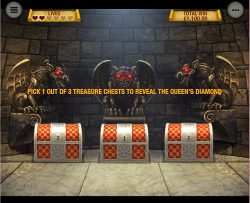 free The Three Musketeers and the Queen's Diamond Mobile bonus feature
