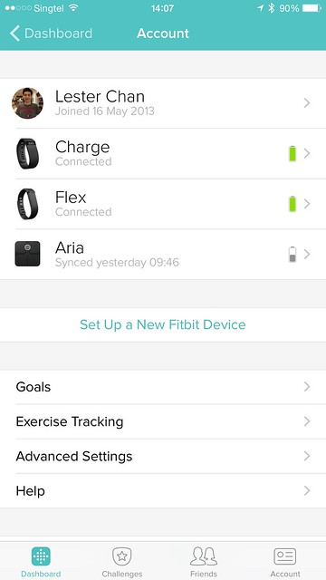 Fitbit iOS App - Account