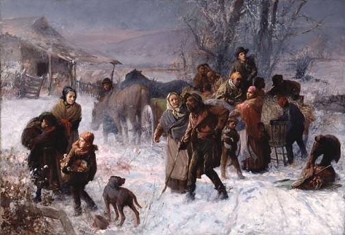 On April 21, area historians and experts will present and host a discussion about Delaware's role in the history and success of the Underground Railroad. The public is invited to attend this free event at the University's New Castle Campus. (Painting: The Underground Railroad by artist Charles T. Webber, 1893.)