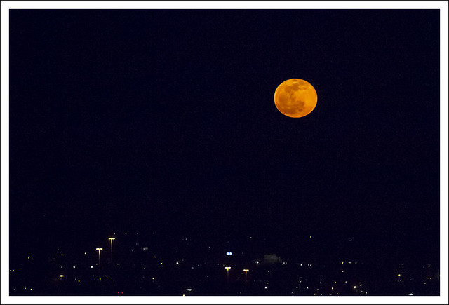 Compton Hill Water Tower Moonrise 2015-04-04 2