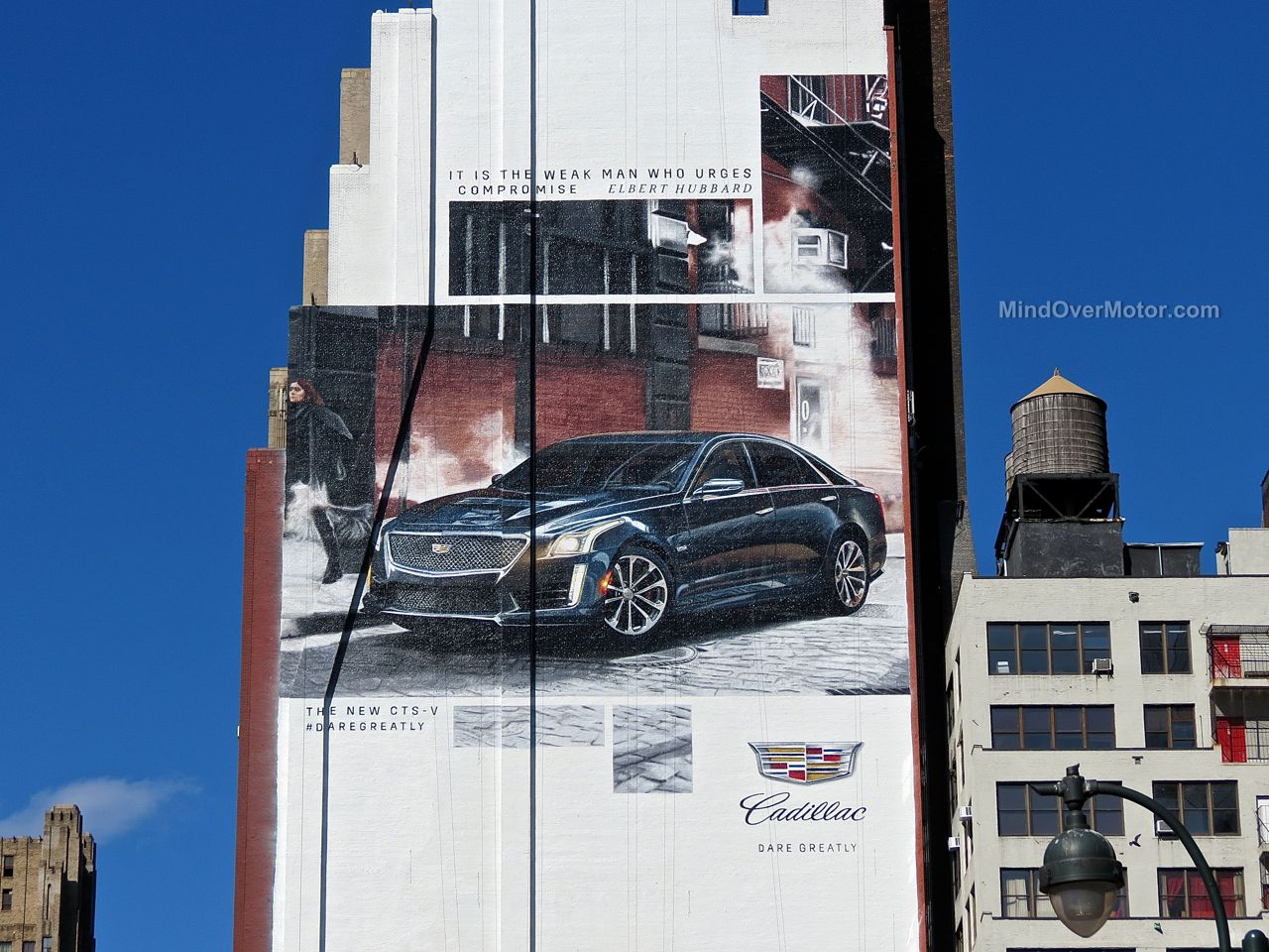 New York Cadillac CTS-V Building Ad