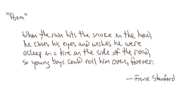 """""""Poem"""" (Frank Stanford)"""