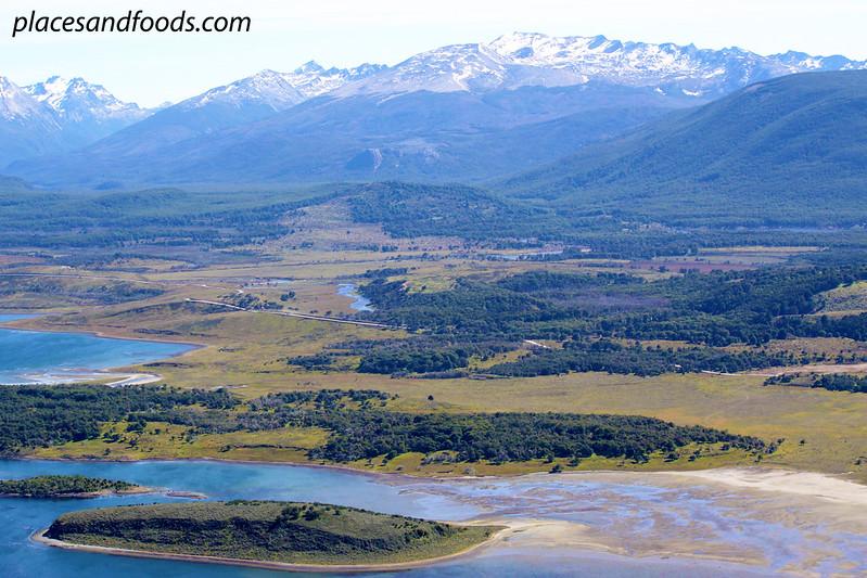 ushuaia plane view tierra del fuego