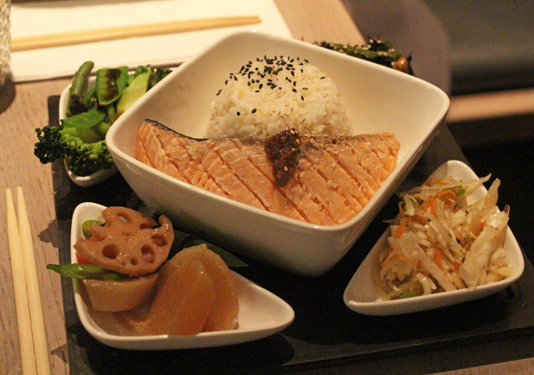 tombo salmon bento