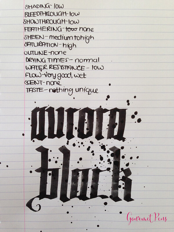 Ink Shot Review Aurora Black @BertramsInkwell  (5)