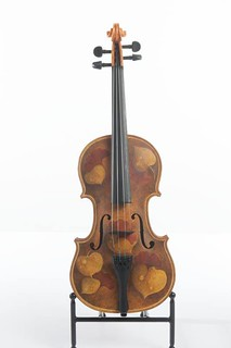 SSO painted violin by Talbot Hopkins Trudeau