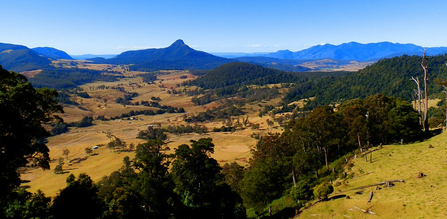 Carrs Lookout and Mt Jiramon landscape, Scenic Rim