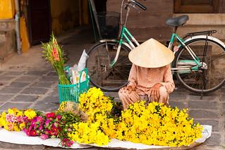 Street Florist in Hoi An