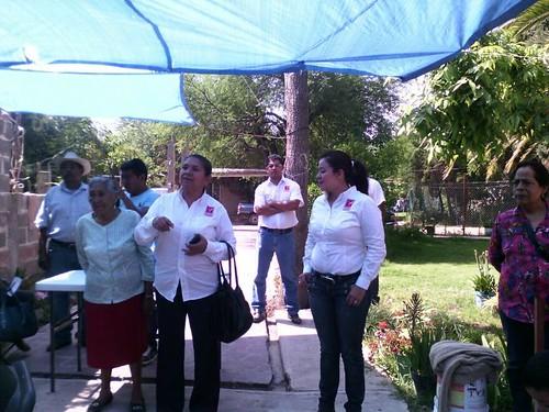 Belinda Badillo Candidata a la presidencia municipal de San Luis Potosí realizó rondines en San Luis Potosí.