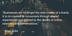 Brands are no longer created; they're co-created