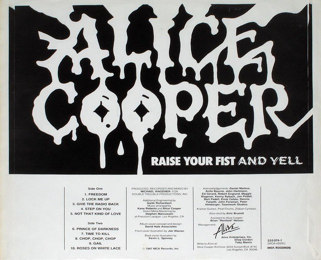 "ALICE COOPER - RAISE YOUR FIST AND YELL 12"" LP"