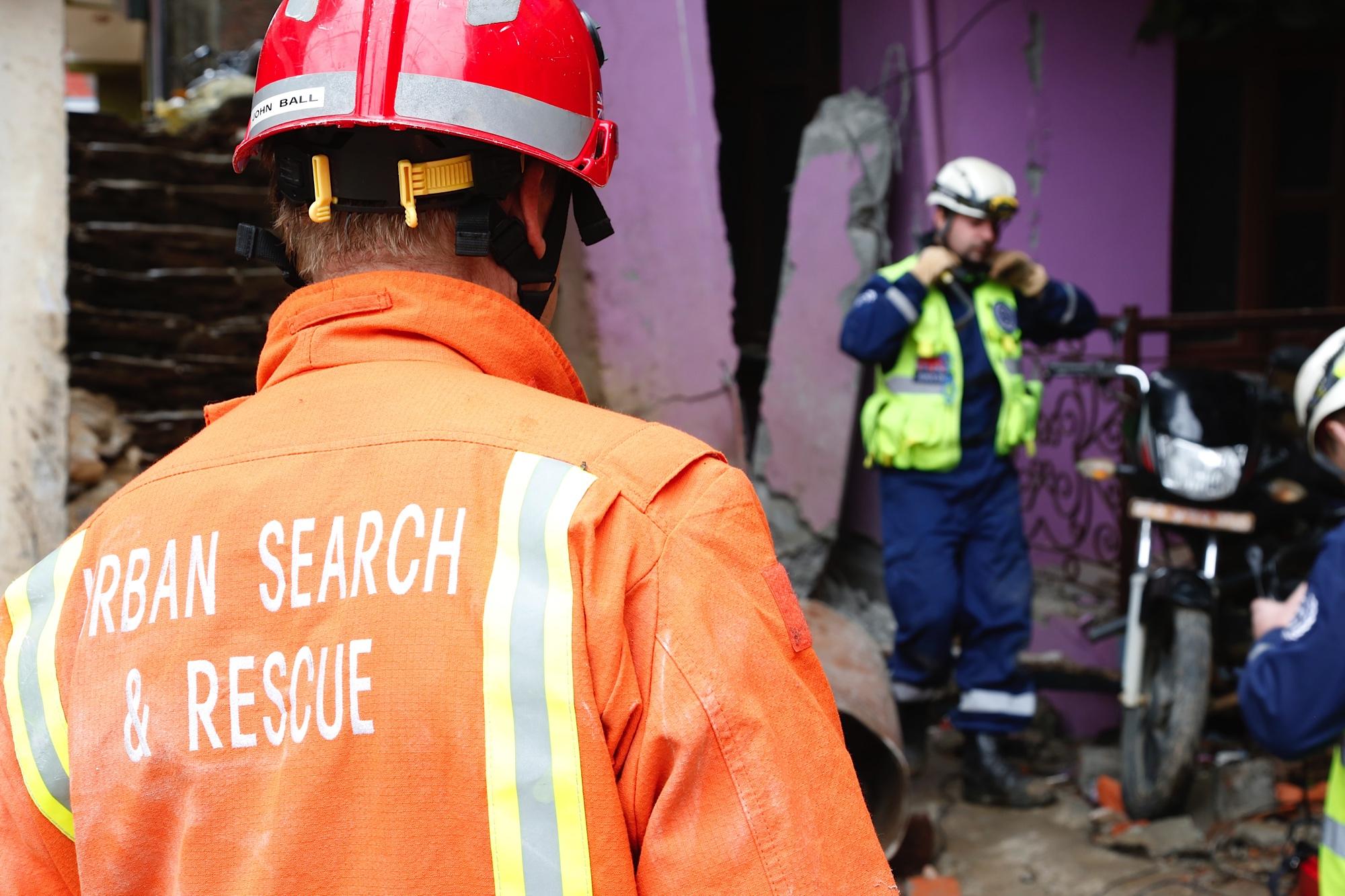 Urban Search And Rescue Teams Reach Chautara, Nepal