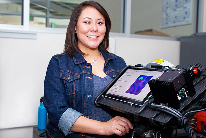 Student intern Sheri Lopez.