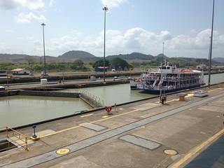 Panama Canal.  Panama City.