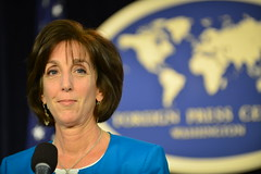 Assistant Secretary of State for Western Hemisphere Affairs Roberta Jacobson delivers remarks on re-establishing diplomatic relations with Cuba at the Foreign Press Center in Washington, DC on May 22, 2015. [State Department Photo/Public Domain]