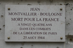 Photo of Jean Montvallier-Boulogne marble plaque