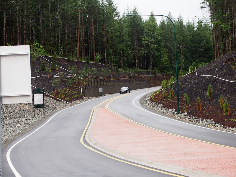 Tokul Road: Repared: The road has been widened and regraded for the new roundabout that kept it shut down for so long.