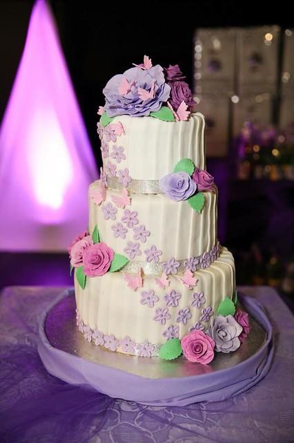 Pretty Three-Tier Wedding Cake by Michelle Ancheta