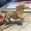 #caballo de #origami diseñado por Román Díaz, doblado por mí