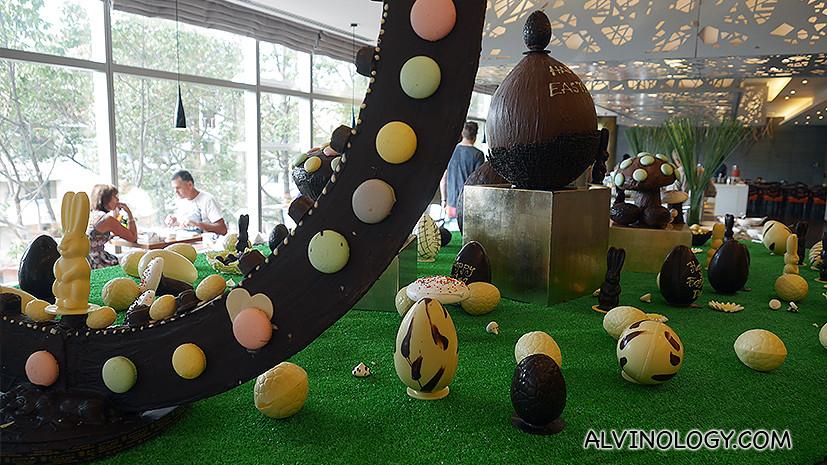Chocolate eggs everywhere