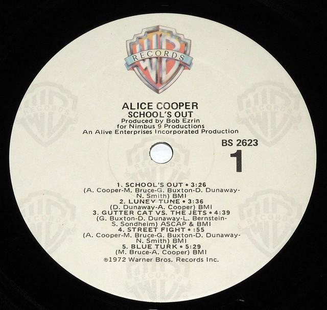 """ALICE COOPER SCHOOL'S OUT 12"""" VInyl LP"""